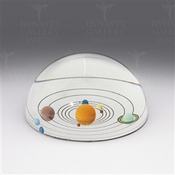 Solar System Handmade Crystal Dome Paperweight